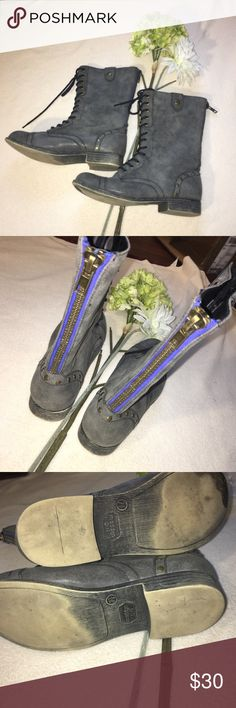 MADDEN GIRL | zip back lace up combat boots Don't like the price?  Make me an offer!  Always willing to offer discounts on bundles. Madden Girl Shoes Combat & Moto Boots