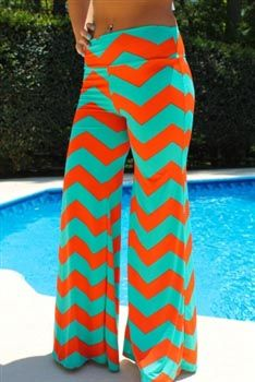 Poolside Palazzo Pants - Coral