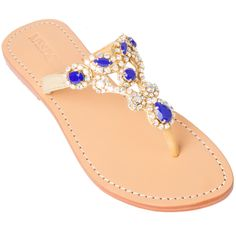 8e43f98d798 Mystique Sandals features unique hand crafted leather women s sandals that  are embellished with jewelry Blue Sandals