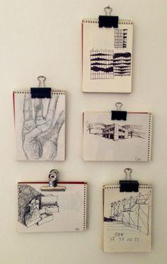 Skizzen, Tags Wandgestaltung; DIY