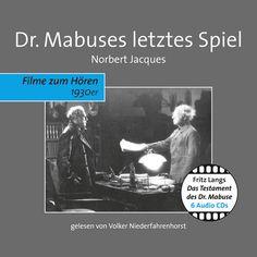"""Wenn Ihnen diese Geschichte bekannt vorkommt, dann erinnern Sie sich wahrscheinlich eher an Fritz Langs und Thea von Harbous cineastisches Meisterwerk """"Das Testament des Dr. Mabuse"""" aus dem Jahr 1932 als an Norbert Jacques' Roman. Lang und Harbou gelang mit diesem Werk eine packende Fortsetzung des zweiteiligen Stummfilms """"Dr. Mabuse, der Spieler (1922)"""". Hörprobe DR. MABUSES LETZTES SPIEL - die erste Minute  via SoundCloud"""