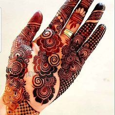 Latest Henna Designs   Cute Girl Modern Henna Designs, Floral Henna Designs, Henna Tattoo Designs Simple, Latest Bridal Mehndi Designs, Full Hand Mehndi Designs, Henna Art Designs, Mehndi Designs For Beginners, Mehndi Designs For Girls, Mehndi Design Photos