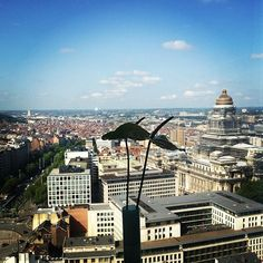 A beautiful blue sky over Brussels today!