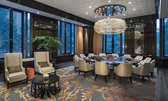 Private Dining Room at The Grand Mansion, A Luxury Collection Hotel, Nanjing by HBA Design.