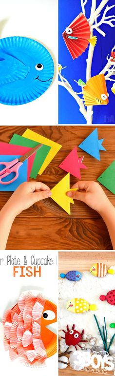 """If you have little ones who love studying aquatic life, they'll have a blast with these fish activities and crafts for kids! In fact, since there are over 27 different ideas listed, you'll have plenty of """"fishy"""" fun to last for weeks."""