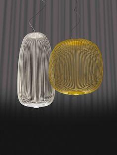 The stylish Spokes 2 LED Suspension Lamp was created by Garcia Cumini for notable Italian design company Foscarini.Foscarini has been creating beautiful lightin Lamp Design, Lighting Inspiration, Cool Lighting, Ceiling Lights, Suspension Lamp, Lamp Light, Lights, Hanging Lamp, Pendant Light