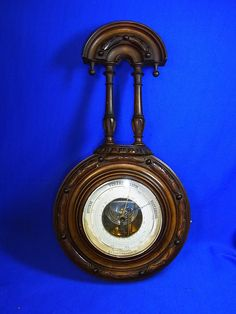Antique German Wood  Barometer Historismus Historism 1880 #