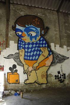 Goddog – I Support Street ArtI Support Street Art Street Art is a highly popu… Murals Street Art, Street Art Graffiti, Urban Street Art, Urban Art, Graffiti Characters, Street Signs, Art Studies, French Artists, Street Artists