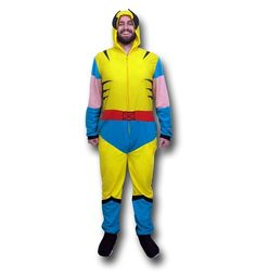 b3aab34468 The Wolverine Retro Costume Union Suit Pajamas will make you Weapon X...if