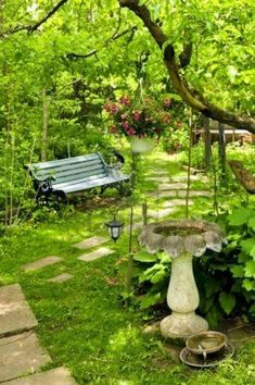 Path Of Stepping Stones Leading Into Lush Green Garden Royalty Free Stock Photo, Pictures, Images And Stock Photography. Image 3227507.