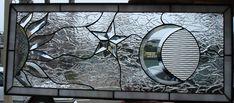 Sun & moon stained glass window   eBay