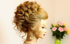 Wedding prom updo. Hairstyle for long medium hair. - YouTube