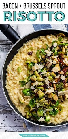This is proof that bacon makes everything better - even already delicious and creamy risotto! Try it if you love brussels sprouts, parmesan cheese and general easy dinner awesomeness.