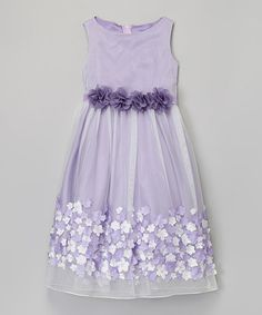 Look what I found on #zulily! Lavender Lace Petal Dress - Toddler & Girls by Kid's Dream #zulilyfinds