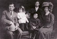 Buster Keaton and his family