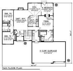 House Floor Plan for #21707 - Traditional House Plans  1734 sq ft