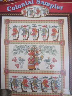See Sally Sew-Patterns For Less - Colonial Sampler Cross Stitch Needlework Stitch World Pattern 03-215 Chart, $8.99 (http://stores.seesallysew.com/colonial-sampler-cross-stitch-needlework-stitch-world-pattern-03-215-chart/)