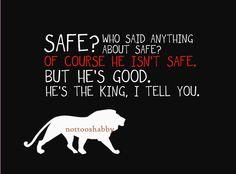 SAFE Narnia Quote Print by NotTooShabbyHandmade on Etsy
