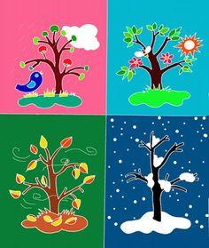 Phạm Hoan: Trang trí lớp mầm non theo CĐ 3. School Frame, Kindergarten, Crafts For Kids, Preschool, Shapes, Seasons, Create, Drawings, Seasons Of The Year