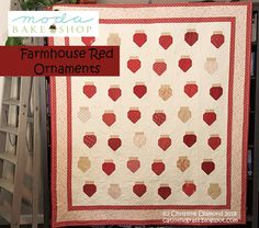 Farmhouse Red Ornaments Quilt