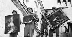 American soldiers with looted paintings at Neuschwanstein Castle, Germany (NY Times), via even cleveland