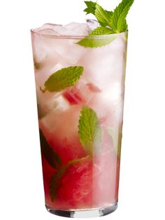 Muddle 2 watermelon chunks with the juice of 1 lime and 2 teaspoons sugar in each glass. Stir in a handful of mint leaves, then add 2 ounces white rum and ice. Top with ginger ale; garnish with more mint.