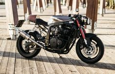 The Foundry MotorCycles 'Cafe Fighter'. A raw, stripped back Suzuki GSXR 750 cafe racer with a touch of Mad Max madness - via returnofthecaferacers.com