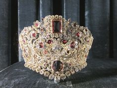 Ruby & diamond tiara of Queen Therese of Bavaria - 1830
