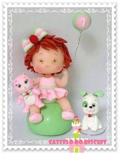 Topo de bolo infantil tema Moranguinho baby
