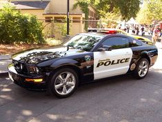 Dang, this Mustang GT is a badass police car! I took these pics today at the Danville Concours d' Elegance. Others: Dodge Charger: [link] Chevy Cam. Us Police Car, Ford Police, Police Patrol, Police Officer, Mustang Shelby Cobra, Mustang Cars, Ford Mustangs, Radios, 4x4