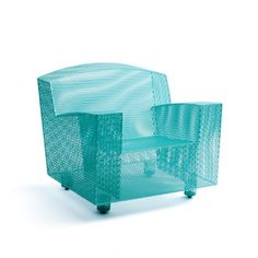 stainless steel turquoise outdoor club chair