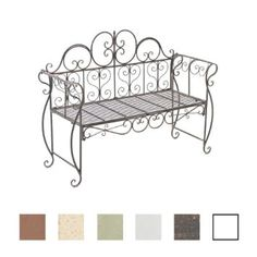 ikayaa banc de jardin en fonte patio parc banc mobilier m. Black Bedroom Furniture Sets. Home Design Ideas