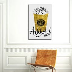 Oliver Gal coffee addict print. Perfect for the coffee bar