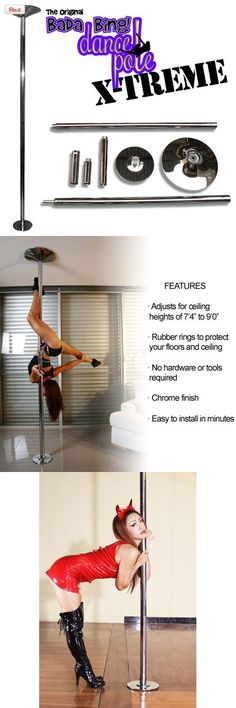 Portable Fitness Exercise Exotic Stripper Strip Spinning Pole Dance Dancing NEW, Special Note: This item DOES NOT come with a workout, exercise, or training DVD. The included paper instructions have a typo and incorrectly mention this. Also, the included installation DVD is only v..., #Sporting Goods, #Exercise Videos