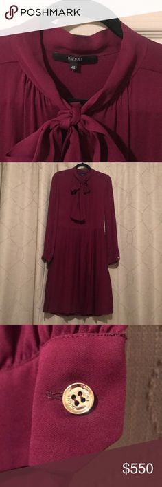 Gucci plum dress Beautiful Gucci pleated silk georgette dress. Have not worn it.  Bought it to alter but never got the chance to do it. Gucci Dresses Midi