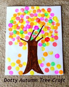 Dotty Autumn Tree Craft 12/1 feature