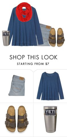 """""""Yeti"""" by mlainezrubi ❤ liked on Polyvore featuring Abercrombie & Fitch, Toast, Birkenstock, women's clothing, women, female, woman, misses and juniors"""