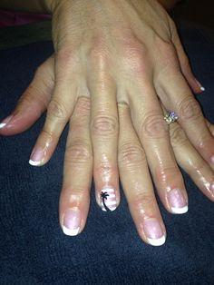 French tip palm tree nails nail art shellac gel gelish