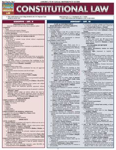 BarCharts' 2011 version of its best-selling Constitutional Law study guide includes the latest information on legally binding constitutional powers—or lack ther Law Notes, Constitutional Law, Police Academy, Paralegal, Criminology, Political Science, Law School, School Notes, Senior Boys