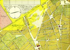 """1833, JÓSEF VAROS (Józsefváros). Nevét II. József  (más néven a """"kalapos király"""") után kapta 1777-ben... Egy térképrészlet, de nem akármilyen...! Nézzük a finomságokat!  A Hentes (Népszínház) utca és a Kerepesi (Rákóczi) út között még egy mocsaras tavacskát találhatuk nagyjából a mai Erkel színház helyén. A Fűzfa (Dohány) utcán eljuthattunk a Marha Vásárlás színhelyére. A lóvásárlást egy kicsit arrébb, a mai II. János Pál pápa téren bonyolíthattuk le... De fedezzük fel a korabeli Szűzleány…"""