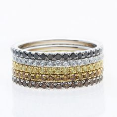 Bijoux Tendance : Diamond Rings for Eternity Unique Diamond Rings, Eternity Ring Diamond, Diamond Engagement Rings, Jewelry Trends, Black Diamond, Fine Jewelry, Diamonds, Fashion Jewelry, White Orchids
