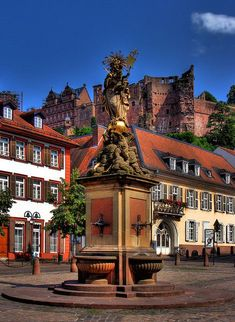Beautiful Heidelberg is located along the Neckar Valley Cycling Route. Oh The Places You'll Go, Places Around The World, Great Places, Places To Travel, Beautiful Places, Places To Visit, Around The Worlds, Visit Germany, Germany Travel
