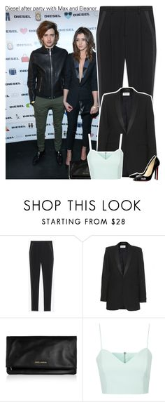 """""""Diesel after party with Max and Eleanor"""" by perfectharry ❤ liked on Polyvore featuring Yves Saint Laurent, Christian Louboutin and Topshop"""