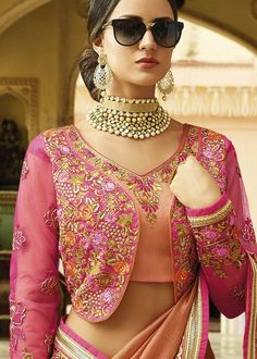 Blouse Designs Colorful , stylish & traditional bridal outfit Do Not Let Parenting Stress You Out Ar Blouse Designs Catalogue, Stylish Blouse Design, Silk Saree Blouse Designs, Fancy Blouse Designs, Bridal Blouse Designs, Blouse Neck Designs, Blouse Patterns, Sewing Patterns, Saris