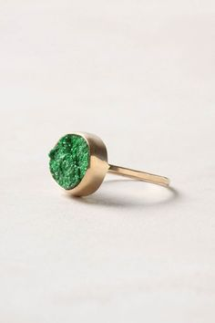 Midnight Leaf Ring / Anthropologie