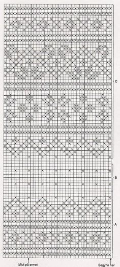 Fair Isle Knitting Patterns, Knitting Charts, Knitting Stitches, Baby Knitting, Motif Fair Isle, Fair Isle Chart, Fair Isle Pattern, Crochet Chart, Filet Crochet