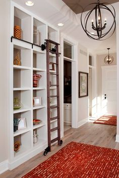 bookshelves with library ladder - Google Search