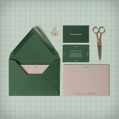 Visual identity I made for my friend Eloise Bosredon #colorplan #green #stationery #architecte