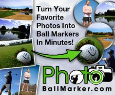 Turn your favorite photos into amazing golf ball markers in minutes. Set of five photo golf ball markers plus as accessory of your choosing. Golf accessories consist of golf necklace, hat clip and divot tool. Jewelry accessories (heart and circle necklace, brooch, and key chain) are also available.