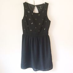 Forever 21   Black Beaded Cocktail Dress Beautiful dress! NWOT! Perfect condition black cocktail dress with open back! Stunning! Forever 21 Dresses Prom